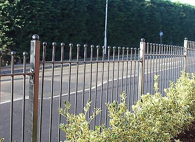 Wrought Iron Ball Top Fencing. Nearly Half RRP!