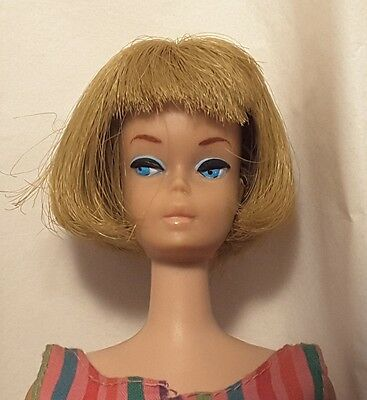 VTG AMERICAN GIRL BARBIE DOLL  Blonde Hair in Original Swimsuit Pretty Bendable