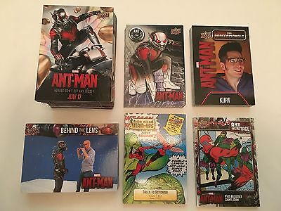 ANTMAN Upper Deck Sketch Costume Autograph Bronze Master Set Card Lot SPP