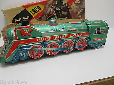 Treno In Latta Vintage  Tin Toy China Puff-Puff Loco  Me 660  Battery Operated