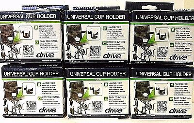 Pack of 6 Drive Medical Universal Cup Holder - 3 Wide - STDS1040S
