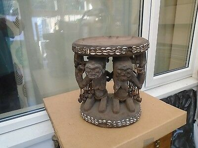 amazing songye tribal art wooden stool from the congo  WOW  must see item  LOOK