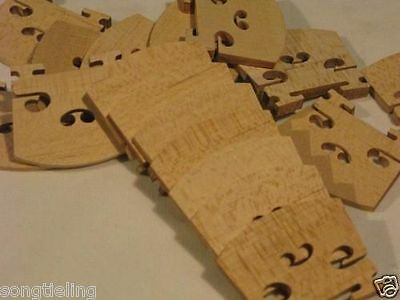 20 pcs violin bridges fine maple laser precise 3/4
