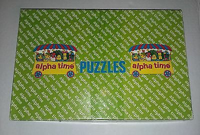 Vintage Alpha Time Letter People Puzzles 1972 Nine Trays All Letter People W Box