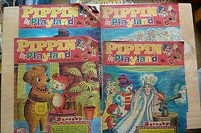 4x Pippin in Playland Comic/Magazines (1976)