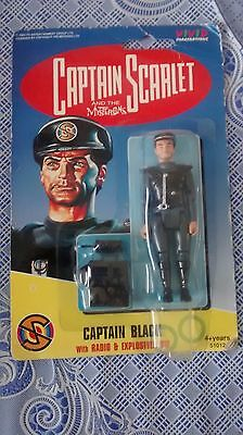 Captain Scarlet And The Mysterons Captain Black Figure By Vivid New On Card