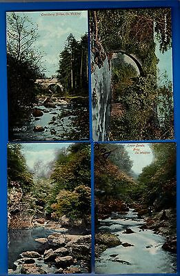 Collection 4 Old Valentine Postcards Dargle Bray Enniskerry Co. Wicklow Ireland