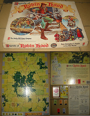 Legends of Robin Hood, Avalon hill game, vintage gioco da tavolo, completo.