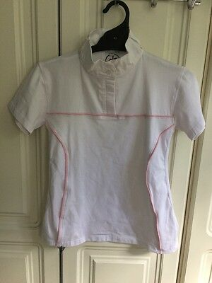 Girls Size 14 Riding Shirt With Ratcatcher Collar