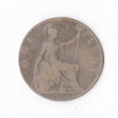 British 1903 Coin 1 Penny 9913