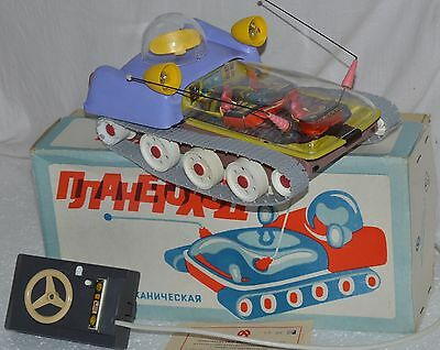 OLD STOCK 1991 VTG Russian Soviet TOY SPACE SHIP BATTERY LUNOHOD car MOON WALKER