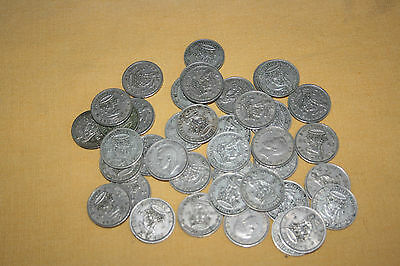 41 GEORGE V1 - ENGLISH SHILLINGS 1940 to 1951 - GOOD CONDITION