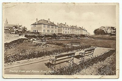 POSTCARD-SCOTLAND-FORTH-PTD. The Bowling Green and Manse Road.