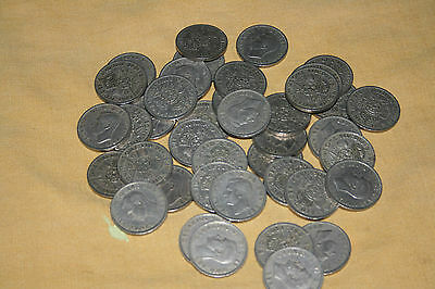 A MIXTURE of 40 GEORGE V1 FLORINS 1947 to 1951 - GOOD CONDITION
