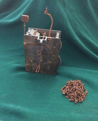 Old Vintage Brass Clock Movement See Pics