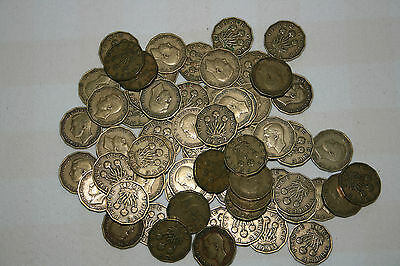 BULK - 75 COINS of GEORGE V1 THREEPENCES - 1937 + 1940 to 1945 + 1952