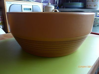 "VINTAGE/RETRO MID 20th CENTURY BOWL by ""PURBECK POTTERY"" PATTERN IS ""TOAST"""