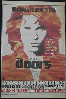 UK PRESS ADVERT for THE DOORS MOVIE from NME April 1991 Jim Morrison