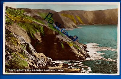 Vintage Postcard South Coast From Pilchers Monument Sark Channel Islands