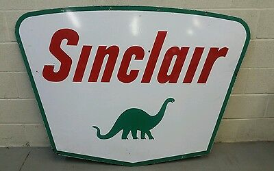Big Old Vintage Porcelain Sinclair 2 Sided Dealer Sign 5 Foot