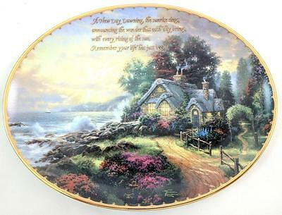 "Bradford Exchange Thomas Kinkade ""new Day Dawning"" Collector Plate W/ Coa"
