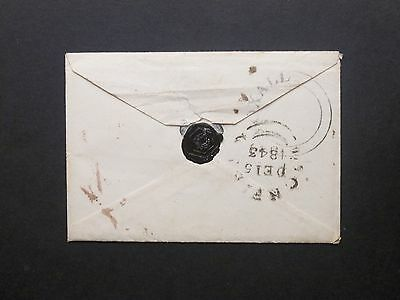 "GB Staffordshire 1843 1d red m/s Envelope ""YOXALL"" UDC Cheadle to Lichfield"