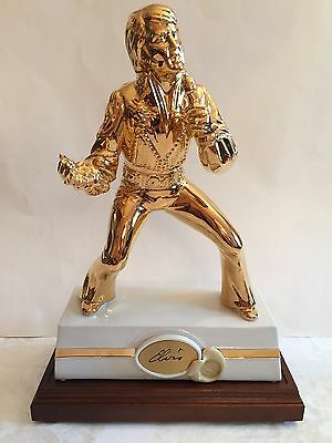 "Elvis Presley, Elvis Gold Encore Musical Decanter, McCormick, 16"", With Box"