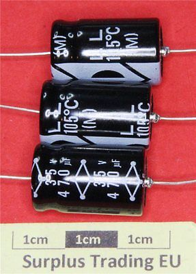 Multicomp Axial Electrolytic Capacitor 470µF 35V 105°C (Pk of 3)