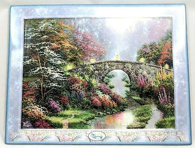 "Bradford Exchange Thomas Kinkade ""stillwater Bridge"" Collector Plate W/ Coa"