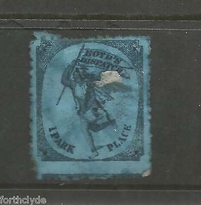 Boyd's Dispatch 1 Park Place New York Blue On Blue Used Unstated Value Ref 1089