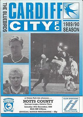 CARDIFF CITY v NOTTS COUNTY 1989-90