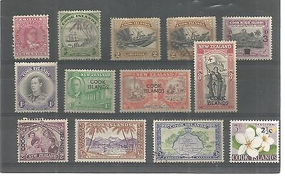 Cook Island Used And Unused Definitives Includes King George Vi  Ref 1148