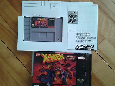 SNES X-Men Mutant Apocalypse (complete with box and manual)