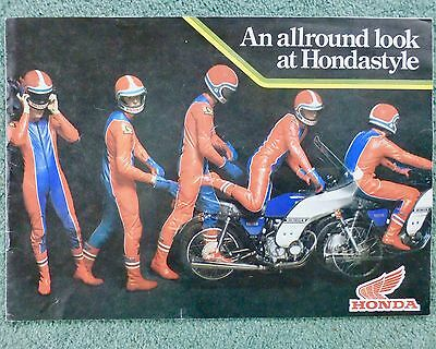 Honda Style Motorcycle original 12 page Accessories Catalogue 1978 / 80
