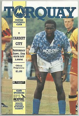 TORQUAY UNITED v CARDIFF CITY 1992-93
