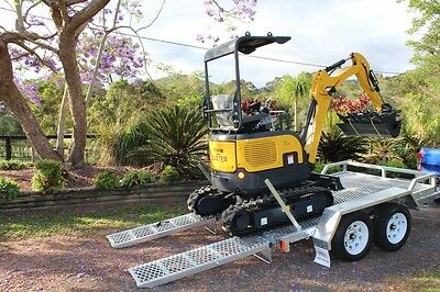 New Carter CT16 Mini Excavator Trailer Package Shipment AU Wide