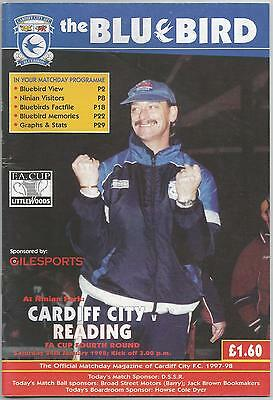 CARDIFF CITY v READING (FA Cup 4th Round) 1997-98