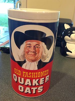 Vintage Old Fashioned Quaker Oats Cookie Jar- Beautiful-never Used