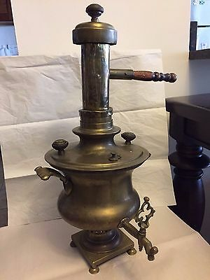 Antique Russian Samovar, marked, with chimney
