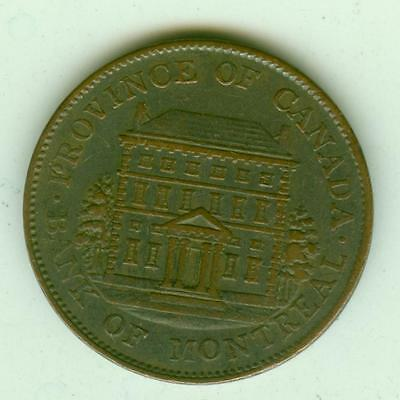 Lower Canada 1844 1/2 Penny-Lot A2