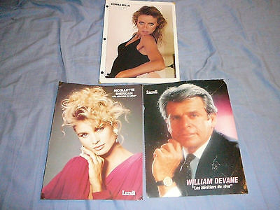 LOT OF 3 KNOTS LANDING PIN UP POSTER PHOTO AFFICHE 8 x 11 DONNA MILLS NICOLETTE
