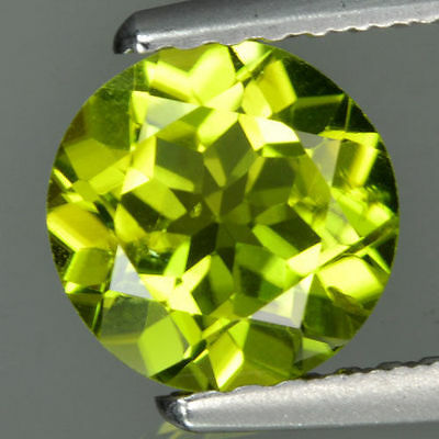 A PAIR OF 4mm ROUND-FACET STRONG-GREEN NATURAL AFGHAN PERIDOT GEMSTONES £1 NR!
