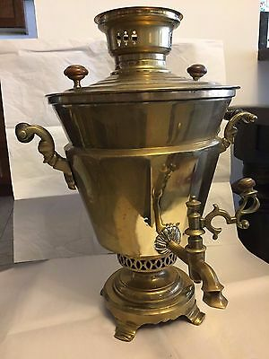 Antique Russian Samovar, unusual shape, marked