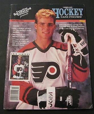 Canadian Sportscard Collector Hockey Magazine 1992/93 Eric Lindros On Cover