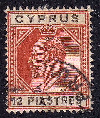 CYPRUS. KEVII 12pi from 1903, used.