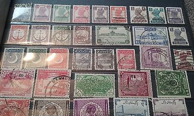 Collection of All Different Pakistan Stamps
