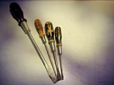 Irwin, slotted screwdrivers, lot of 4, vintage___________________________E-130P