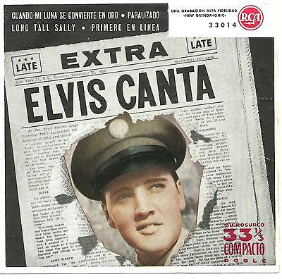 Elvis Presley RARE Compact 33 1/3 EP from Spain - Elvis Canta.