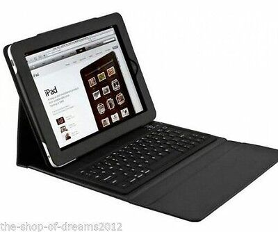 Custodia Con Tastiera Bluetooth Per Ipad  2 3 4 Cover Eco Pelle Wireless