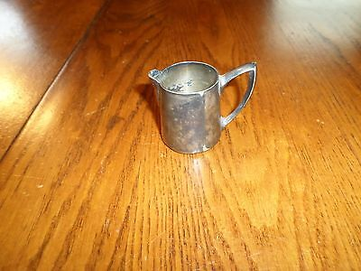 Vintage Union Hotel Cochem Germany late 1800's Pewter Creamer A Krupp Berndorfer